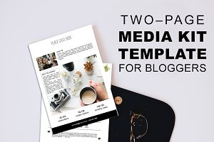 2 Page Media Kit for Bloggers