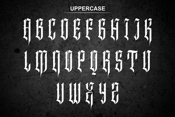 Inhumans in Blackletter Fonts - product preview 4
