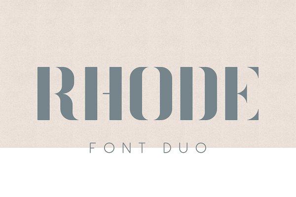 Sans Serif Fonts - Rhode Font Duo
