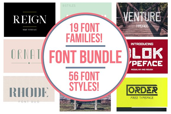 Typeface Bundle 80% OFF 19 Fonts