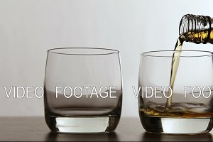 Glasses of whisky