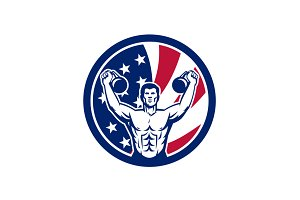 American Physical Fitness USA Flag I
