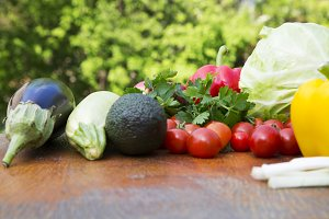 Composition of organic vegetables