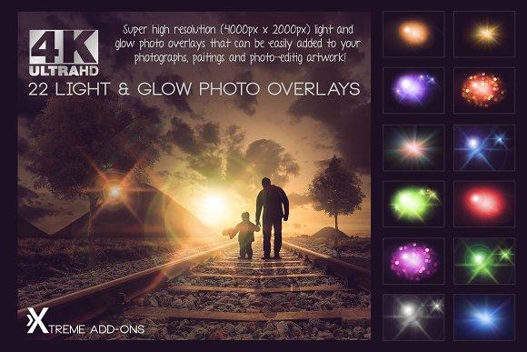 4K Light Glow Overlays