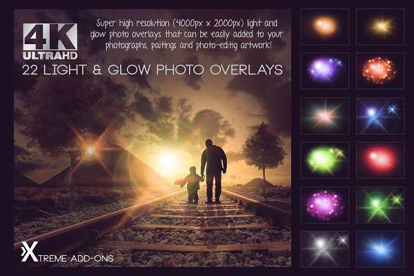 100 Sun Flare & Haze Overlays ~ Photoshop Add-Ons ~ Creative Market
