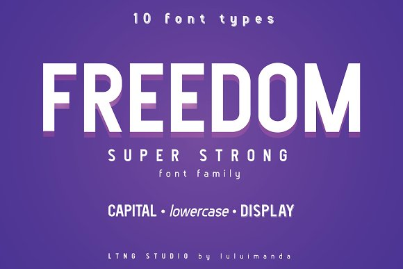 FREEDOM Font Family