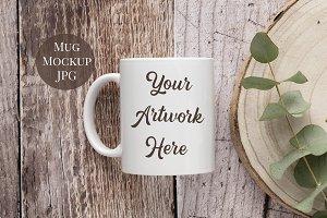 Mug Mockup - Rustic Wood