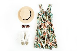Woman summer clothes travel