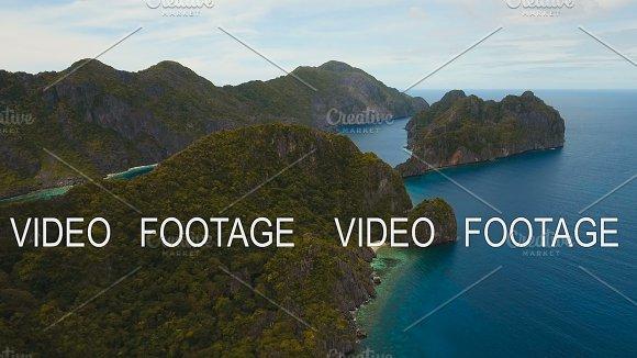 Tropical Islands Aerial View El Nido