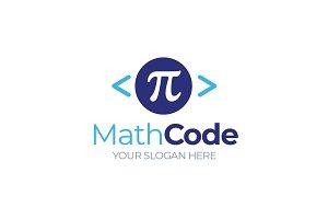 Math Code Programming Pi Letter Logo