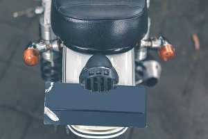 Custom Motorcycle closeup Technology Superbike and Transportation Background concept.