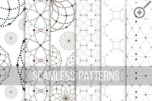 Dotted seamless patterns