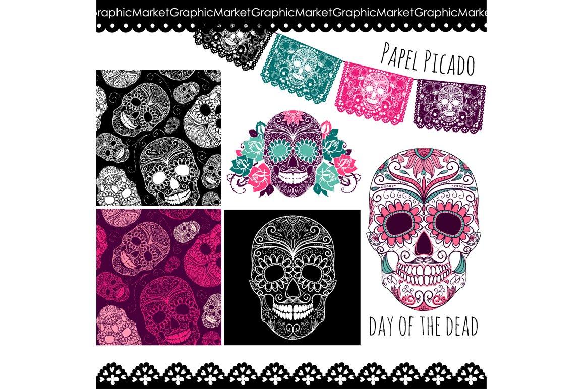 Day Of The Dead Wedding Invitations: Sugar Skull Day Of The Dead Clip Art