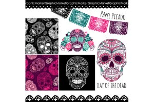 Sugar Skull Day of the Dead Clip Art