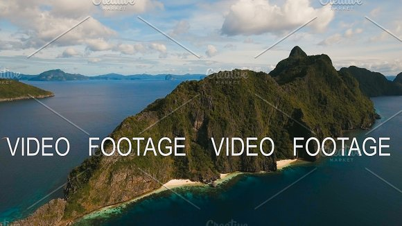 The Beautiful Bay Aerial View Tropical Islands