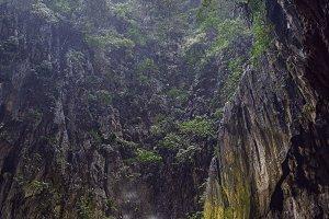 View in the Batu Caves, near Kuala Lumpur, Malaysia