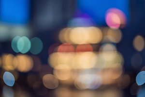 Cityscape bokeh, Blurred Photo, cityscape