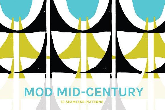 Mod Mid Century Seamless Patterns