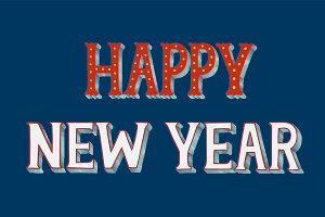 Happy new year typography design