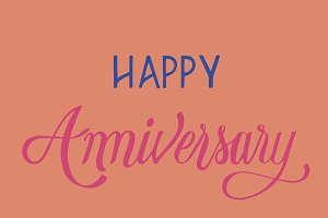 Happy anniversary typography design