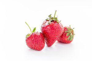 A bunch of strawberries. Fresh strawberries on a white background.