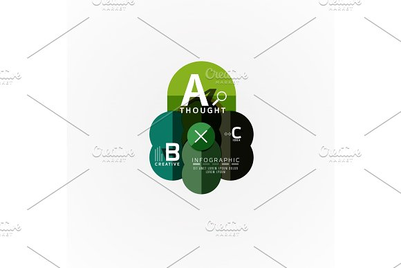 Paper Infographic Banner Template With A B C Options Infographics Elements