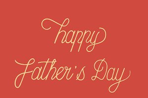 Happy father's day typography design