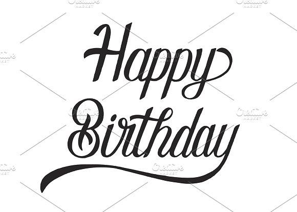 Happy Birthday Typography Design