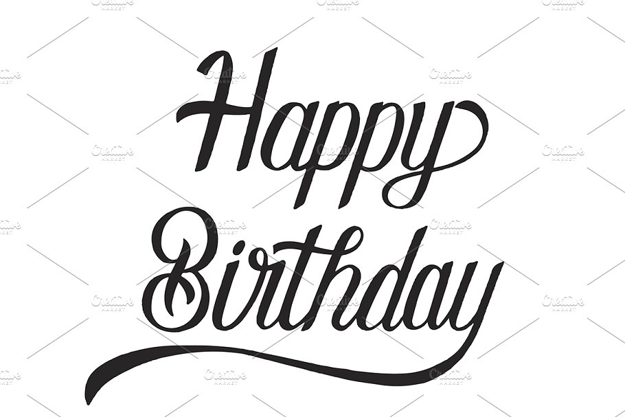 Happy birthday typography design in Illustrations - product preview 8