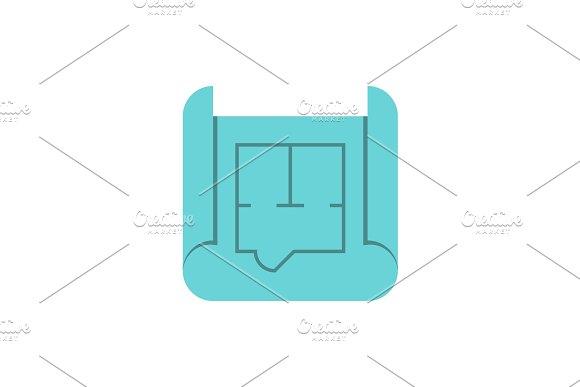 Blueprint Roll Flat Icon