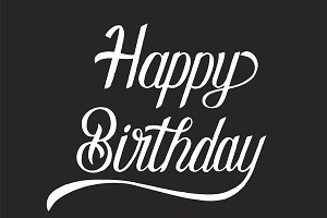 Happy birthday typography design