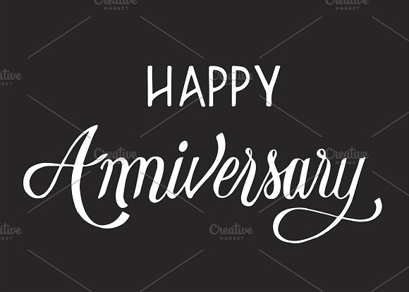 Happy Anniversary Typography Design