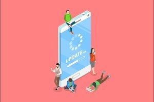 Smartphone app update