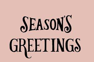 Seasons Greetings typography