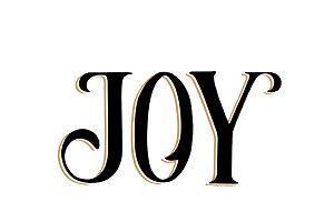 Joy typography illustration
