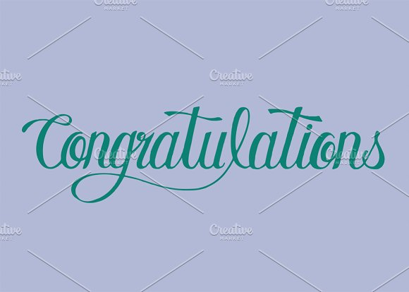 Congratulations Word Typography