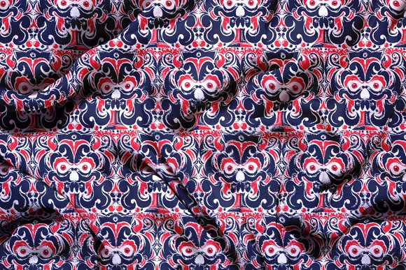 Devil Tribal Seamless Pattern