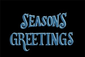 Seasons Greetings typography