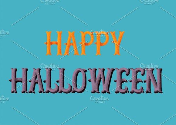 Happy Halloween Typography