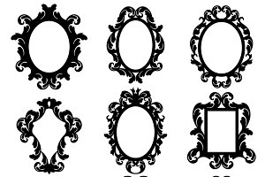 Baroque Frames Vectors and Clipart