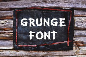 Grunge Letters and Numbers
