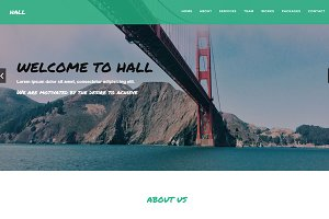 Hall - One-Page Business Template