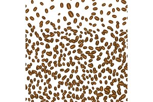 Background in falling coffee grains