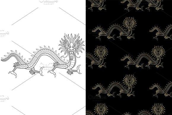 Dragon Tattoo 2 Seamless
