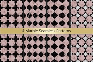 Marble Seamless Pattern Set