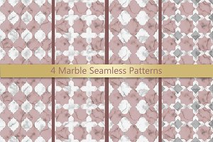 4 Marble Seamless Pattern Set