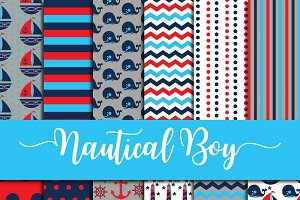 Nautical for Boys Digital Paper