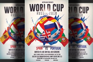 Football World Cup Flyer Template