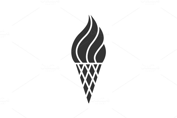 Ice Cream Cone Glyph Icon