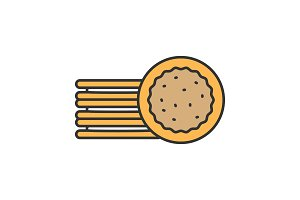 Sandwich cookies color icon